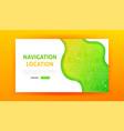 navigation landing page vector image