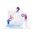 online education - modern colorful flat design vector image vector image