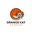 orange cat logo icon vector image vector image