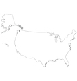 outline map united states of america vector image