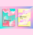 pastel gradient covers design with fluid shapes vector image vector image