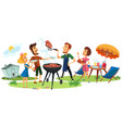 picnic holiday outdoor vector image vector image