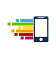 pixel art mobile logo icon design vector image