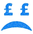 Pound Bankrupt Sad Emotion Grainy Texture Icon vector image vector image