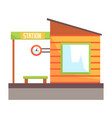 railway station building railroad passenger vector image
