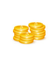 realistic 3d golden coins vector image