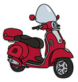 Retro red scooter vector image vector image