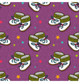 seamless pattern with cute baby booties vector image vector image