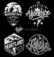set adventure mountain theme badges vector image