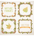 set of nature calligraphic frames vector image vector image