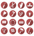 set of repair concept icons flat images of tools vector image vector image