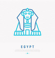 sphinx thin line icon vector image vector image