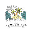 travel summertime logo design summer vacation vector image