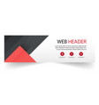 web header abstract red black background im vector image