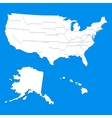 White USA map