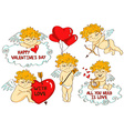 Set of cartoon cupid characters vector image