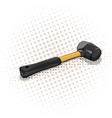 yellow mallet with black handle vector image