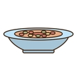 plate soup dinner cooking vector image