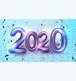 2020 helium balloons greeting xmas banner vector image