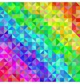 Abstract spectrum background from triangles vector image vector image