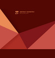 abstract template geometric triangles red vector image