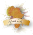 Africa map element abstract hand drawn watercolor vector image vector image