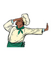 african cook chef gesture shame denial no vector image vector image