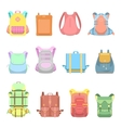 Backpack Suitcase and Bag Set for School Travel vector image vector image