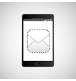 big smartphone black icon message email vector image vector image