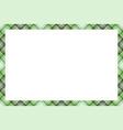 border frame vintage background plaid pattern vector image vector image