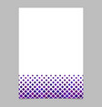 brochure template from purple diagonal square vector image vector image