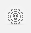 bulb in gear icon vector image vector image