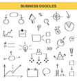 Business doodle set isolated on white background vector image vector image