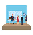business people in office scene vector image vector image