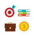 business set collection icons vector image