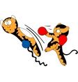 cartoon tiger cub cute young martial arts vector image