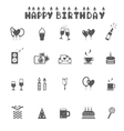 celebration and party icons vector image vector image