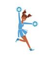 cheerleading girl sport support dancing vector image
