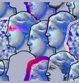 classical pattern of venus de milo statue vector image