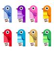 collection cartoon birds vector image vector image