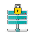 color wifi router technology with padlock security vector image