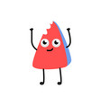 cute red eraser character vector image