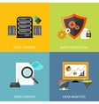Database icons flat vector image