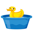 Duck in a tub vector image vector image