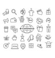 e-commerce line icon set vector image