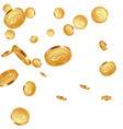 falling metallic coins background vector image vector image
