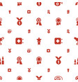 first icons pattern seamless white background vector image vector image