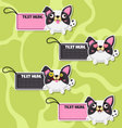 Four cute cartoon Dogs stickers vector image vector image