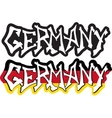 Germany word graffiti different style vector image