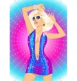 girl dancing at disco light vector image vector image